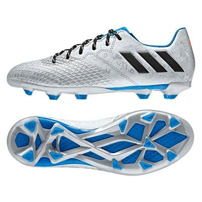 watch 72cee 0e3ad Boys adidas Messi Junior 16.3 FG Silver Moulded Studs Soccer Football Boots