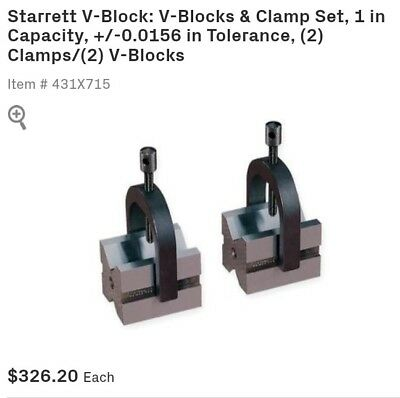 Starrett 278 V-Block and Clamp set