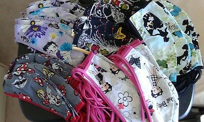 Wholesale Lot Resale 50 Surgical Scrubs Cap Disney Snow White Minnie Betty Boop