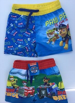 Baby Boys Swim Shorts with Paw Patrol detail