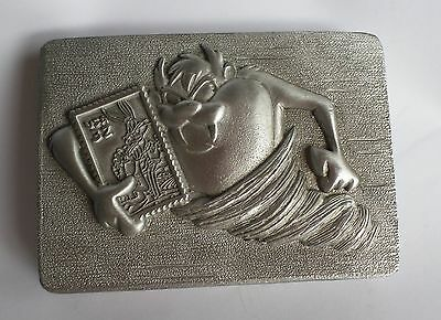 Looney Tunes Stamp Collection Pewter Paper Weight, TAZ, Warner Bros 1997