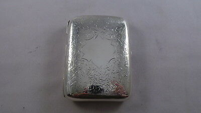 Good Pretty  Antique Sterling Silver Cigarette Case Birmingham 1909