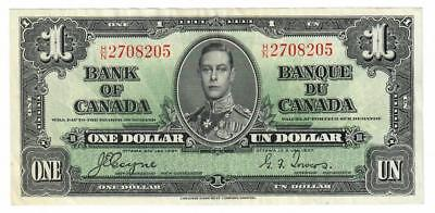 1937 Bank Of Canada Banque Du Canada $1 One Dollar Note Ch Au Coyne/towers