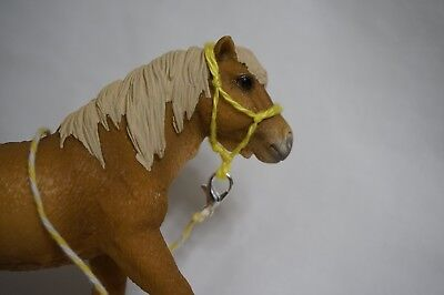 Handmade Schleich Horse Rope Halter with Lead- Yellow