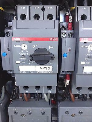 ABB MS450-40 Manual Motor Starter MS Series Includes Contactor Alarm Switch