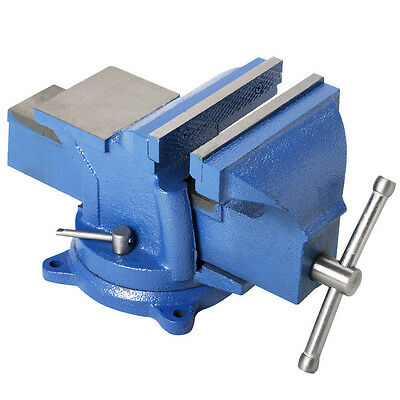 "Heavy Duty 5"" Work Bench Vice Vise Workshop Clamp Engineer Jaw Swivel Base Table"
