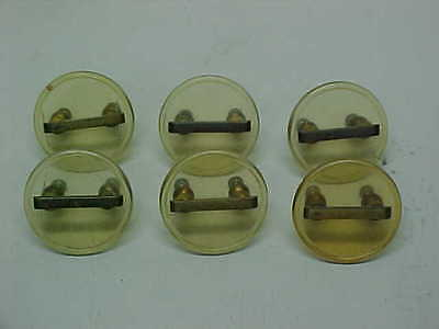 Set Of 6 Lucite Mid Century Modern Vintage Drawer Knobs Pulls Handles