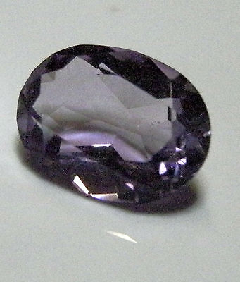 Purple amethyst natural oval shaped gemstone..3.7 Carat.