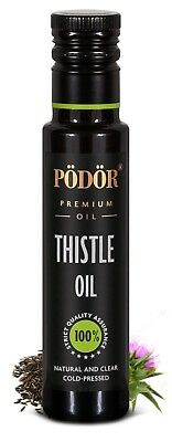 Podor Premium Cold-Pressed Thistle Oil in dark bottle 100ml Nature and Clear
