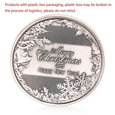 Happy New Year And Merry Christmas Commemorative Coin Collectible Collection