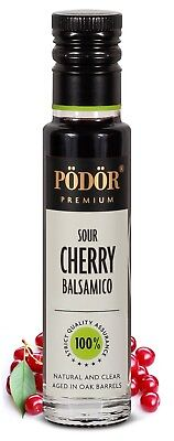 Podor Premium Vinegar Sour Cherry Balsamico 250ml Nature and Clear