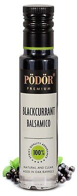 Podor Premium Vinegar Blackcurrant Balsamico 100ml Natural and Clear