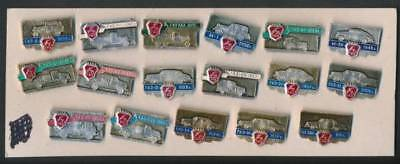 Vintage GNZ Soviet/ Russian Pins  Collection of 17  Car/ Automobile Industry