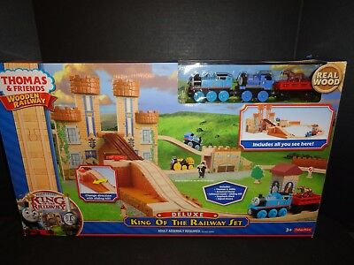 Thomas And Friends Wooden Railway Deluxe King Of The Railway Set  New
