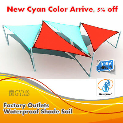 waterproof shade sail cyan color, 3*4m rectangle,3.6m Triangle, New arrive, cool