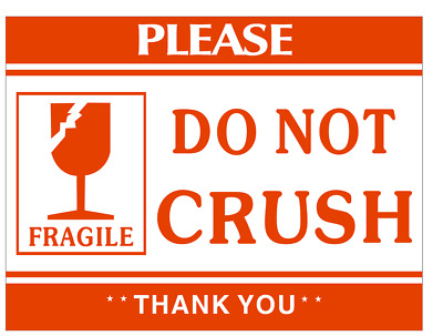 500 Labels 2x3 Fragile DO NOT CRUSH Shipping Mailing Handle with Care Stickers