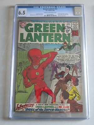 Green Lantern #13 1962 CGC 6.5 CR/OW Pages