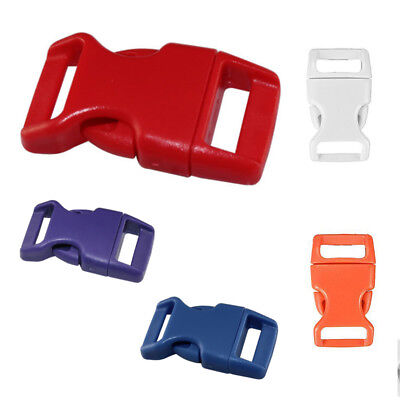 10x 15mm Plastic Side Quick Release Buckles For Webbing Bag Strap Clips 5/8 M8M0