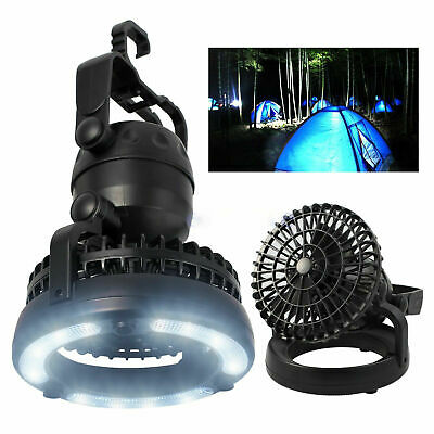 2in1 LED Light Camping Fan w/ Hanging Hook Portable/Weather Resistant Lamp au