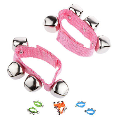 1 Pair Wrist/Ankle Bells Instrument Toys for Baby Kids - Pink, L X1N8 F2P4 X3G4