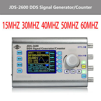 JDS2600 0.01uHz-60MHz Dual DDS Function Arbitrary Waveform Signal Generator