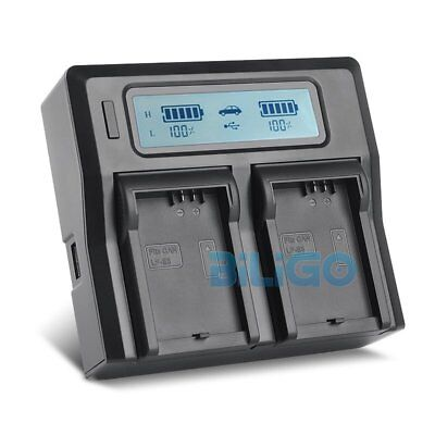 LCD Dual Channel LP-E5 Battery Charger For Canon EOS 500D 450D 1000D XSi XS T1i