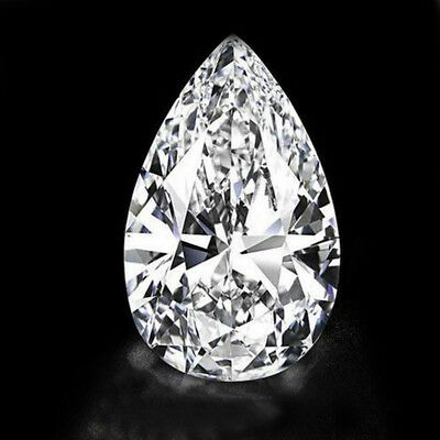 UNHEATED 30.09ct White Zirconia CZ Pear Cut Loose Gemstone Jewelry 18x25MM
