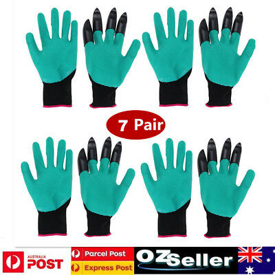 7 Pairs Garden Genie Gloves with Claws Waterproof Gardening for Digging Planting