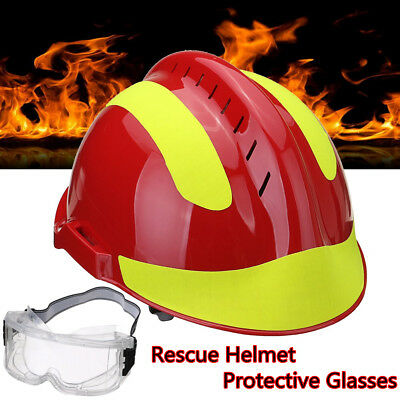 Rescue Helmet Fire Fighter Protective Glasses China CAPF Safety Protector F2 Red
