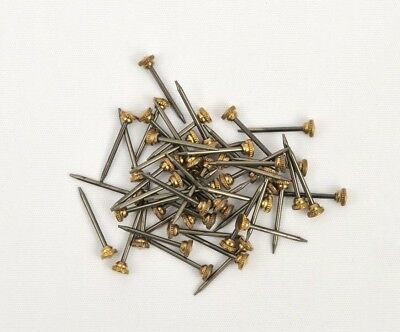 Knurled Picture Pins/Picture Hanging/Brass Head/Pin/Nail/Hook *PICK QUANTITY*
