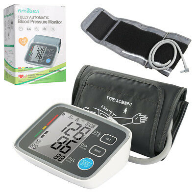 Firhealth Push Button Upper Arm Blood Pressure Automatic Digital LCD Monitor US