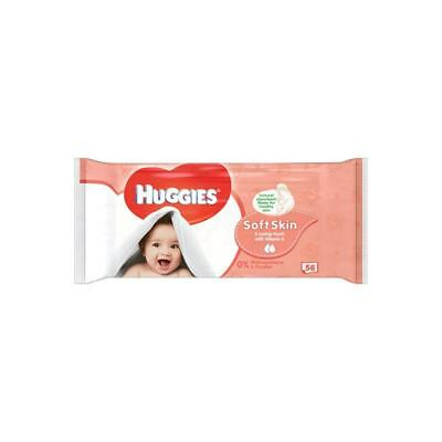 Huggies Soft Skin Baby Wipes - Pack of 56 Wipes
