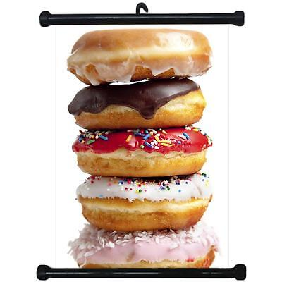 sp217091 Donuts Wall Scroll Poster For Bakery Shop Decor Display