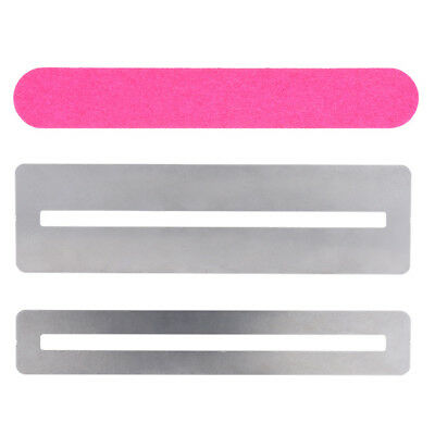 Guitar fret Repairing Tool Set Stainless Steel Protector shims & Sanding Pi Y4A2