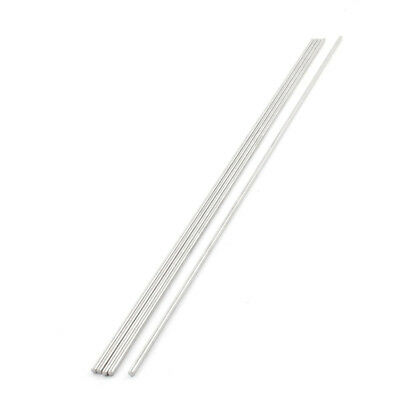 350mm Long 3mm Dia Stainless Steel Round Bar Stick Rod Silver Tone x 5 S6G5
