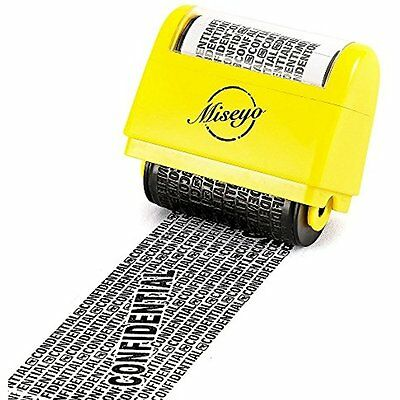 Miseyo Wide Stamps Roller Identity Theft 1.5 Inch Perfect For Privacy Protection