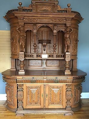 Antique German Hand Carved Cabinet 1835
