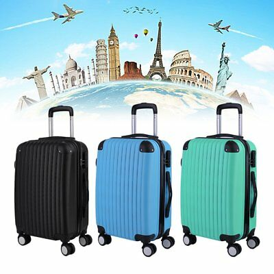 "20"" 24"" 28"" Hard Shell Cabin Suitcase Case 4 Wheel Luggage Spinner Lightweight"