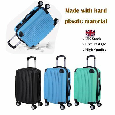Cheap Cabin Hand lightweight Luggage Suitcase 4 Wheeled ABS Travel Case Bag NEW