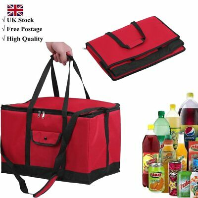 Extra Large 30L Insulated Cooler Cool Bag Box Picnic Camping Food Drink Ice Red