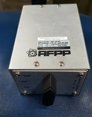 Advanced Energy Industries Mn3150180-003 Gse Lf-Transformer 1Kw 110-1400 Ohms (R