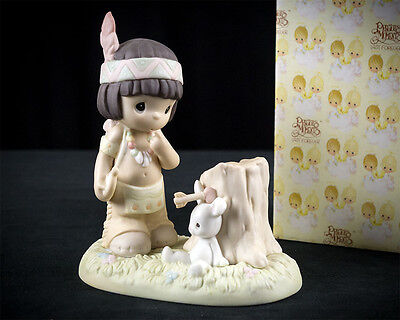 Precious Moments Missum You Figurine 306991 w Box, Enesco 1997 Bunny Bow & Arrow