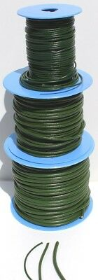 Green Spanish Leather Cord/Thong  2mm, 3mm, 4mm, various lengths