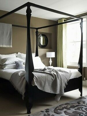 Heals Louis Four Poster bed in black