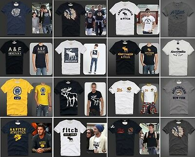Mens Abercrombie & Fitch by Hollister T Shirt  A&F  Muscle Fit Tee  S M L XL XXL