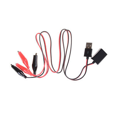 1Pair Alligator Wire USB Clip Male /Female Tester Voltage DC Ammeter Monitor +G
