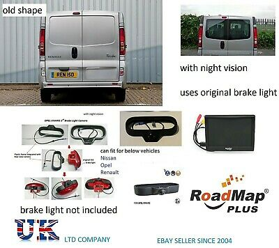 "vauxhall vivaro opel Reversing Camera Brake Light Reverse Camera 5"" monitor 109"