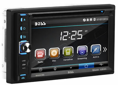 "Boss BV9371BD Double DIN Bluetooth DVD Car Stereo w/ Removable 6.2"" Touchscreen"