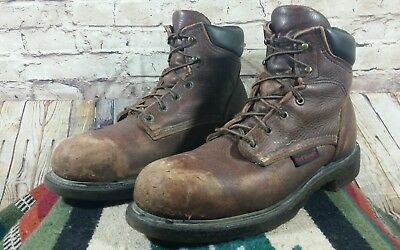 cebbab7dc20 RED WING 2406 Men's Brown Leather Steel-Toe 6-Inch Work/Safety Boots Size  9.5 D