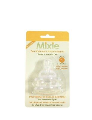Mixie Baby Bottle Replacement Nipples Stage 1 (Newborn-3 mos.)